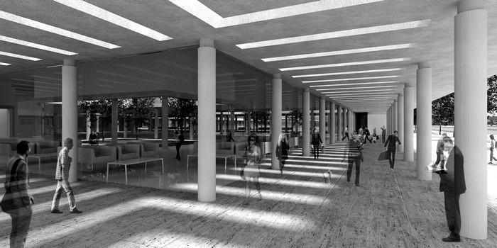 Bus Station Corridor